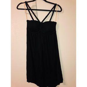 Short black summery dress